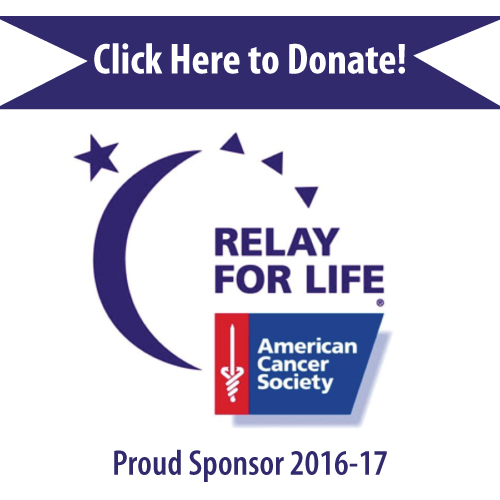 Relay For Life, Proud Sponsor 2016