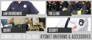 Kysmet Uniforms & Accessories, Coming Soon