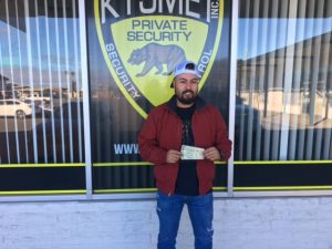 Man receiving tickets to special event